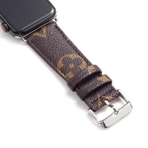 Para el reloj Series5 4 diseñador de relojes de 44 mm bandas de 40 mm para iWatch Series123 pulsera de lujo del cuero correas 38mm 42mm