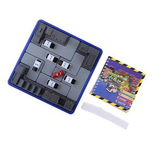 Zhenwei Abbildung Tabelle Brettspiel Straßenpolizei Dieb Puzzle Intelligenz IQ 3D Puzzle 2018 Spielzeug für Kinder Slide Puzzle Y200413