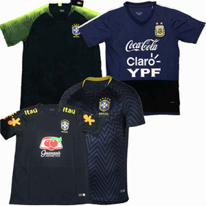 Top nouveau 2019 2020 2021 Brésil Argentine de football chandails T-shirts occasionnels chemise de formation de football