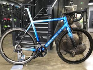 2021 Colnago Art Décor Bleu Noir Cadre brillant BDBL Vélo Road complet Vélo Complete Ultegra GROUPSET