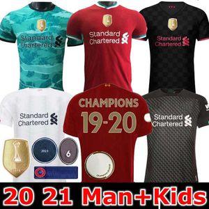 Homens e crianças FIRMINO Mohamed M. Salah Jersey 19 20 21 Soccer Jersey 6 vezes Origi MANE MINAMINO futebol camisa goleiro Blackout