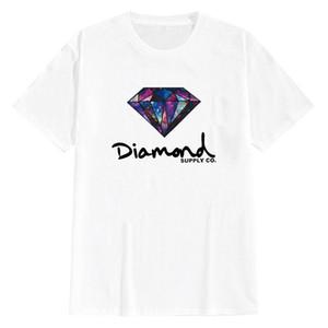 Spot short sleeve T-shirt pure cotton round neck diamond funny print loose T-shirt half sleeve Fashion Top summer bottoming