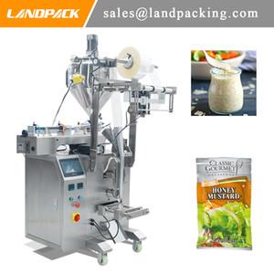 Liquido macchina di rifornimento Condimento per insalata liquida di plastica del sacchetto di Vertical Form Fill Seal macchina imballatrice generali Liquido salsa Packaging