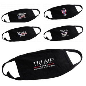 5 HOT types 3D printing Trump 2020 Mask Windproof Cotton Mouth Masks Adult American Election United States Mask Fashion Black Mask