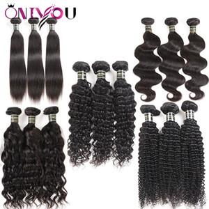 Non trattati del Virgin del brasiliano dei capelli 3 pacchi Body Wave riccio crespo dei capelli umani di trama tessuto economico estensioni dei capelli dell'onda di acqua a buon mercato estensioni