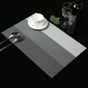 Yeni Placemats Yıkanabilir PVC Masa Örtüsü Pad Mat Tablemats Leke Dirençli Yemek Disk Bowl Pad Coaster Kaymaz PVC Pad Çevre Dostu
