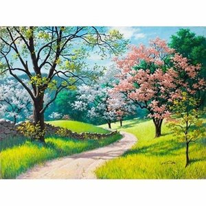 Full square   round diamond embroidery 5D DIY diamond painting Spring scene 3D cross stitch 5D home decoration gift