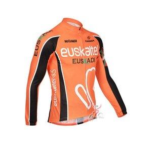 EUSKALTEL Team Cycling Long Sleeves Jersey Cycling Jerseys Autumn Mtb Long Sleeve Men Bike Wear Spring Cycling Clothing B615-45