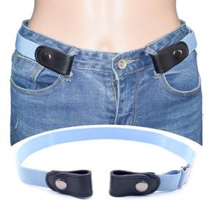 100pcs lot Elastic Belt Waist Belt for Adult Children Jeans Buckle-free Adjustable Belt Clothes Accessory Wholesale