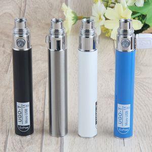 Evod UGO-T eGo Vape pluma UGO batería Micro USB de paso a través de 650 mAh Carga Fit Ego atomizadores 510 Tema Evod batería