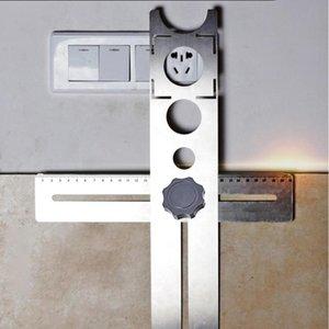 Carrelage en acier inoxydable réglable Locator Puncher Tapper pour la construction Ensembles de construction multifonctions Décoration d'outils à main
