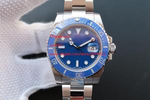 Fabricante de fábrica homens esporte de alta qualidade safira automático 116619LB 40mm azul cerâmico bezel discar luminous mens relógio relógios de relógios