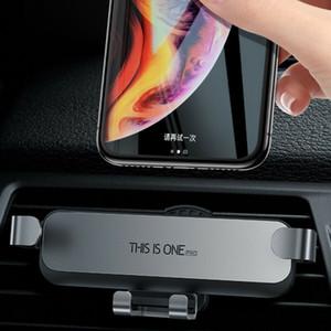 2020 Nouvelle Arrivée Auto clampage Gravity Téléphone de voiture Support de voiture Support Air Vent Phone Holder Gravity Holder 2 couleurs