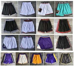 Qualidade máxima ! 2019 Shorts De Basquete Da Equipe Homens PSG Shorts Esporte All Star Shorts Calças Universitárias Branco Azul Vermelho Roxo Amarelo Preto