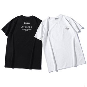 Новый мужской дизайнер лето футболка тройники письма печати короткие рукава бренд класса люкс мужчины футболка размер S-2XL LR190449