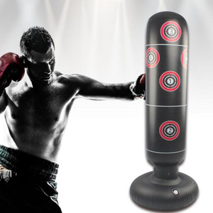 1.5M Inflatable Stress Punching Tower Bag Boxing Standing Water Base Training Pressure Relief Bounce Back Sandbag