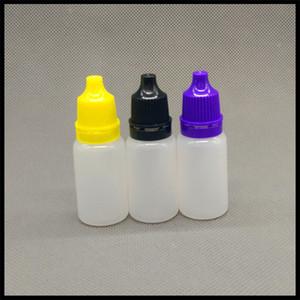 10ml PE Dropper E Bottiglie liquida con Childproof Cap E Bottiglie Squeezable ricaricabile plastica collirio