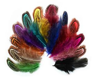 Partido Ropa de boda arte de costura 6-10cm la pluma del faisán colas plumas de cola de abanico para la decoración casera 100Pcs EEA1643
