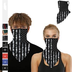 Unisex senza saldatura Hip Hop bandiera americana Bandane foulard magico Sciarpa di riciclaggio del tubo del collo viso foulard Sport magica fascia Stampa Bandana