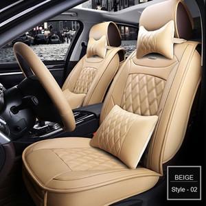 Skoda Octavia Cadillac ATS CTS XTS SRX SLS Escalade Jeti araba aksesuarları araba çıkartması için Cadillac Evrensel PU Deri oto koltuk kılıfları