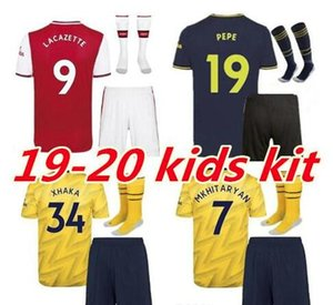 Arsenal jersey set bambini 2019 2020 PEPE AUBAMEYANG LACAZETTE BELLERIN bambini Arsenal football team di alta qualità
