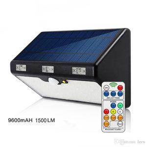 LED Luz Solar Outdoor 66LED 9600mAh 1350LM Alto Brilho de emergência Iluminação Garden Street IP65 Lâmpada Luminaria Luzes