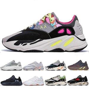 남성 여자 700S V2 정적 스포츠 스니커즈 패션 명품 남성 여성 디자이너 샌들 신발 신발을 실행하는 새로운 카니 예 웨스트 (Kanye West) 700 웨이브 러너