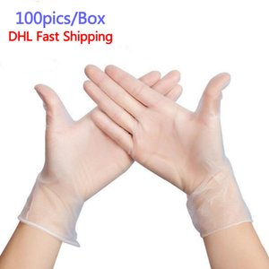 Disposable protective gloves washing dishes kitchen work   left and right hand universal PVC garden gloves rubber gloves