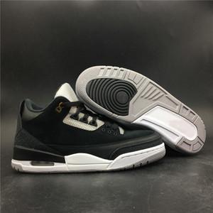 Edición especial 3 Tinker Negro Cemento Gris Metálico Dorado Hombre Baloncesto Diseñador Zapatos 3M Reflective 3s Suede Fashion Trainers de calidad superior