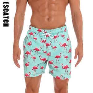 Nuovo Xxxl 3 colori Flamingo stampato interno Quick Dry uomini Tronchi da bagno Uomini Costumi da bagno Costume da bagno Beachwear Beach Shorts Costume da bagno Y19062801