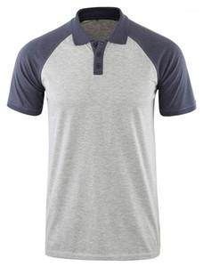 Mens Tops Male Fashion Tees Casual Designer Lapel Mens Polos Short Sleeve Regular Contrast Color Patchwork