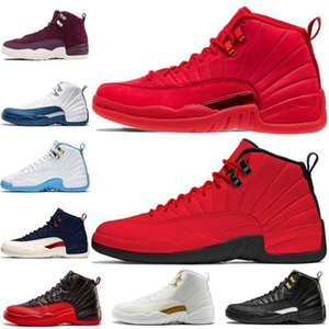 Red 12 Navy College 12s Mens tênis de basquete Bulls Bordeaux jogo gripe 20New Gym o mestre Playoffs PSNY Michigan Sports Sneakers