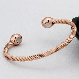 1pcs guérison bracelet de thérapie magnétique de cuivre bracelet soulagement de la douleur arthrite tordu