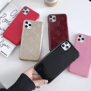 Luxus-Designer-Lackleder großer Blume Telefonabdeckungsfall für iphone 6 6s 7 8 8plus für iphone x xr xs max für iphone 11 11 pro 11 pro max