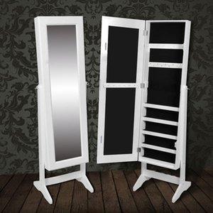 Panolu Ayna Mücevher Dolabı Dolap Beyaz Oturma Odası Mobilya