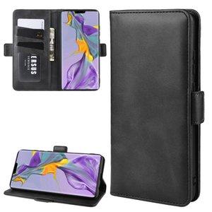 Para Huawei Companheiro 30 Duplo Buckle Crazy Horse Negócios Mobile Phone Holster com o cartão Função Carteira Bracket