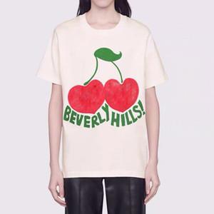 2020 티셔츠 망 여성 패션 의류 짧은 소매 힙합 정상은 펑크 인쇄 문자 체리 여름 스케이트 보드 캐주얼 티 고품질 티
