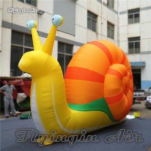 Özelleştirilmiş Parade Perfromance Hayvan Modeli Şişme Gary Salyangoz 5 m Uzunluk Renkli Yürüyüş Tatil Olay Için Salyan ...
