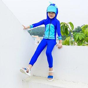 Badeanzug für Teenager Kinderbadebekleidung Kinder Rashgard Boy Biquini Bikini Swim Wear Bade Langarm Trocknen Jungen VERPFLICHTET
