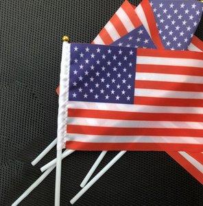 Usa Drapeau américain à main Petit Mini Drapeau Festival USA États-Unis d'Amérique flag 14 Réceptions * 21cm LJJK2168