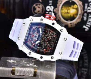 Relogio Masculino 2020 de relógios de luxo de Nova Moda Homens Sports Watch Chronograph Silicone Estilo Militar Homens Design Quadrado Mens relógio para homem