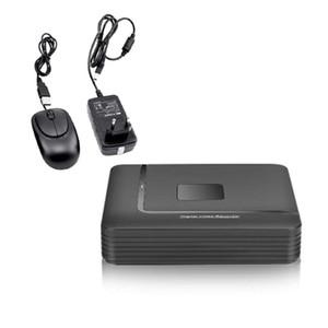 1x Mini 4CH DVR / HVR / NVR Grabador de video HD Seguridad Cámara CCTV IP autónoma WiFi Cloud Acceso remoto con ratón USB