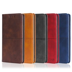 Magnetic Wallet Case For iPhone XS MAX XR Samsung S10 PLUS PU Leather Credit Card Slot Flip Cover Case Different Models Free Shipping