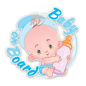 16.1*15.7CM Warning Car Sticker Lovely High Quality Graphic BABY ON BOARD Cartoon Decoration Decals C1-5553