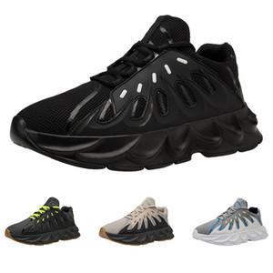 2020 Hot Whole vente hommes drop shipping chaussures de course blanc taille de sports occasionnels vert noir Gery 39-44 Livraison gratuite