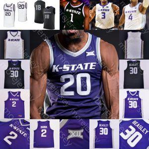 Özel Kansas Eyalet Wildcats Basketbol Jersey NCAA Kolej Sneed Diarra Makol Mawien Stockard III Gordon Murphy Richmond Blackman Beasley