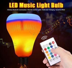 Беспроводной Bluetooth Speaker LED RGB Music Smart Callb с эффектом пламени света E27 18W LED RGB Light Music играет