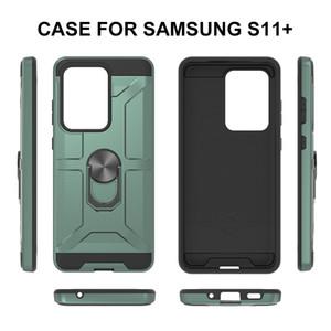 Armée Bague Armure Téléphone pour Samsung S20 plus S20 Ultra A21 A51 A71 A01 Nouveaux modèles Téléphone Housse de protection