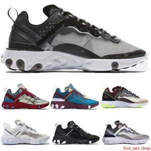 Kids Mens Womens Athletic Shoes Free Run React Element 87 Runing Shoes Designer Sneakers White Black Light Orewood Brown Sports Shoe Trainer