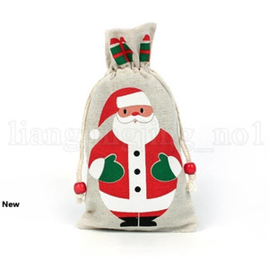 Christmas Drawstring Gifts Bag Pouch 13*23cm Snowman Christmas Decorations Christmas Gift Bags Festive Storage Bag KKA7402